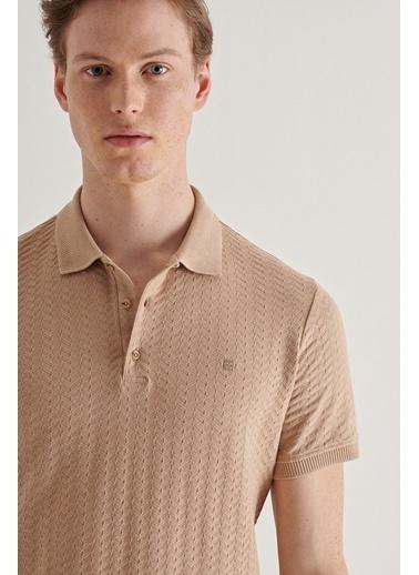 Avva Erkek  Polo Yaka Tişört A11Y1101 Bej